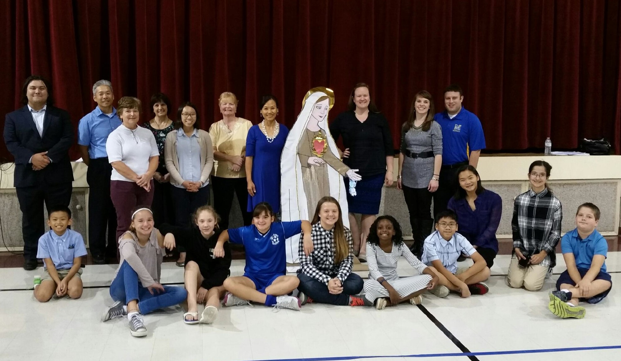 The St. Elizabeth community came together to celebrate the 100 year anniversary of Our Lady's appearance at Fatima in October 2017
