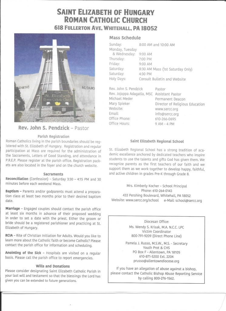 St E Bulletin Front Cover March 2021